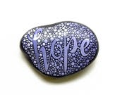 Painted Rock, Painted Hope Stone, Written on Stone, Lavender Hope Rock, Inspirational Words, Painted River Rocks