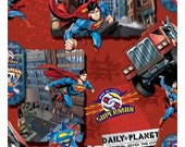 Camelot #039 Man of Steel SUPERMAN 23500105 Fabric - Cuts by HALF Yard Increments