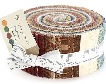 """SALE 50% Off Moda HOPE'S JOURNEY Jelly Roll 2.5"""" Precut Fabric Quilting Cotton Strips 31530JR"""