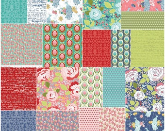 "SALE 20% Off SQ93 Riley Blake Into The Garden Precut 5"" Stacker Charm Pack Fabric Quilting Squares 5-5590-42"