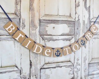 bridal shower banner nautical anchor bride to be banner wedding banner