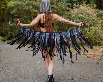 Sulis Hippie Skirt - Festival Skirt - Womens skirt - tutu - Pixie Skirt - Boho Skirt - Wrap skirt - Black Skirt - Mini Skirt - Short Skirt