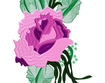 Rambling Rose Machine Embroidery Design by Letzrock  3102