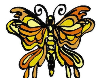 Butterfly Love Small Machine Embroidery Design by Letzrock  3122