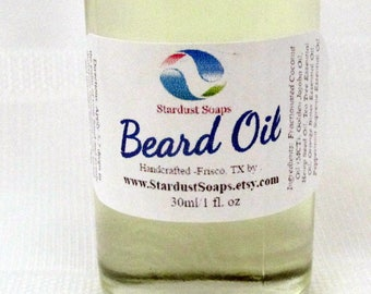 Stardust Soaps Original Beard Oil and Conditioning softener (100% pure natural premium ingredients, made in USA)