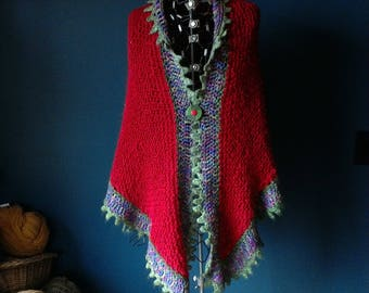 Red Shawl Christmas Cactus Inspired