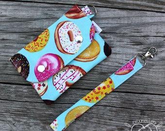Wallet Wristlet Clutch SMALL Donuts