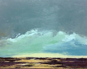 "DRY SEASON, oil painting, landscape, original, 100% charity donation, 9""x12"" canvas panel, clouds,"