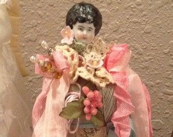 Frozen Charlotte Art Doll, Altered Art Doll, Altered Art,