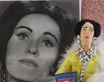 Opera Singer Joan Sutherland Australian Musician Celebrity Doll Miniature Art