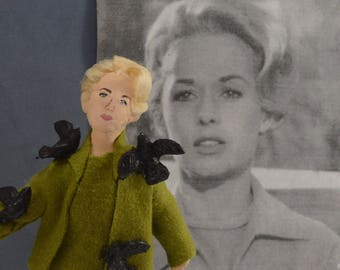 Tippi Hedren Doll Miniature Alfred Hitchcock's The Birds Movie Actress