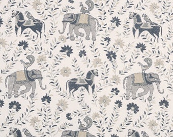 John Robshaw Mahout Grey 21035-15 Fabric by the yard
