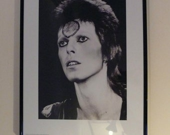 David Bowie Ziggy Stardust Music Icon Poster Framed and Glazed