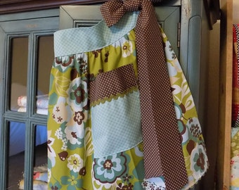 Half Apron Retro Chic Kitchen Waist Aprons with Pockets