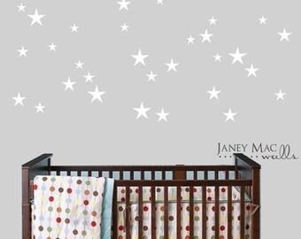 ON SALE Star Wall Decal Decor - Stars Sticker Bedroom Nursery Ideas - Boy Girl Stars Wall Decoration - CN127