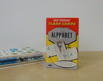Vintage Help Yourself Illustrated Flash Cards Alphabet - Boxed Set Whitman Publishing 1960