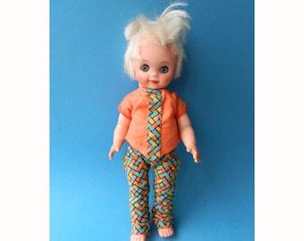"Vintage 1980s Blonde Punk Doll 12"""