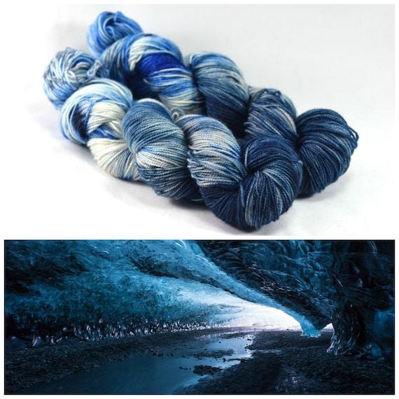 Ice Cave - First Class Silk - Luxury Yarn - Speckled Yarn - Speckle Yarn for Shawls - Fingering Weight Merino/Silk blend