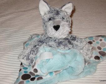 Security Blanket, baby blanket, luvi, lovie - puppy lovems