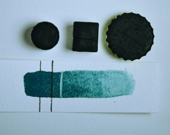 Stellar Mayan Indigo, Anthesis Arts Artisanal Handcrafted Watercolor Paints, Choose Your Size