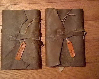 Medieval/Rustic Styled Personal Handcrafted Leather Journal