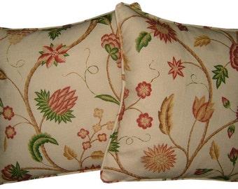 Pair GP & J Baker Lysander Linen Cushion Covers
