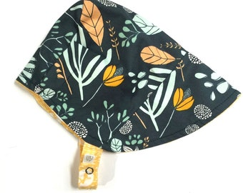 UB2 RISE & SHINE a gorgeously growing green and summer sunny yellow baby summer sun hat, by Urban Baby Bonnets (all sizes)