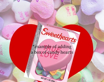 Candy Heart Valentine's Card
