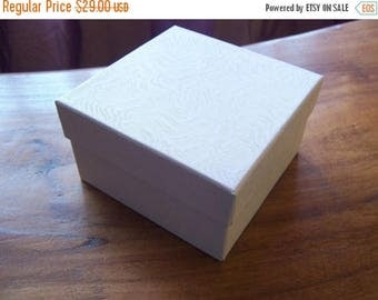 Spring Sale 10% off 50 Pack White Cotton Filled Deep 3.5X3.5X2 Inch Size Jewelry Gift Retail Boxes