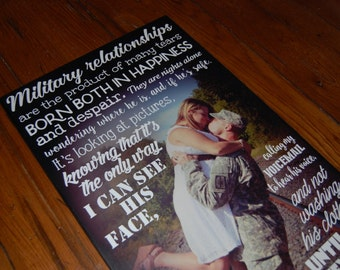 """Military Relationships PHOTO Gift- Giclee MOUNTED prints- custom made to order- 13"""" x 28"""""""