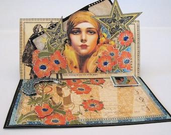 Birthday Card - Easel Card - Art Deco - Bohemiam