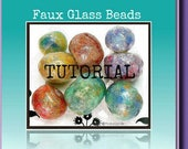 Jewelry Tutorial - Liquid Polymer ClayTutorial- Bead Tutorial- Jewelry Making Tutorial- Faux Glass Beads- Polymer clay Jewelry