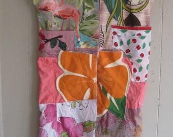ECLECTIC ARTISAN TUNIC Studio Attire - Collage Folk Artist Clothing Wearable Art -- myBonny random scraps of fabric