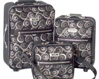 Dollhouse Miniature Luggage, Modern, 1/12th Scale