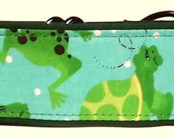 """Turtles and Frogs 2""""  Martingale Collar-"""