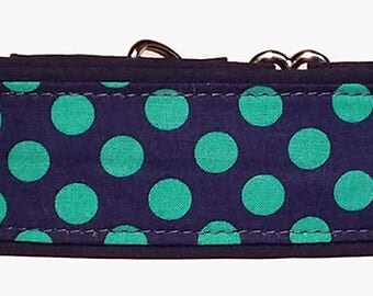 """Blue and Green 2"""" Wide Martingale Collar-"""