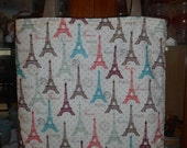 Eiffel Tower in Spring Tote Bag Paris France French Handmade Purse Limited