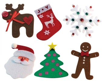 DIY Ugly Christmas Sweater Patches Kit - 6 Patches 73898 fnt