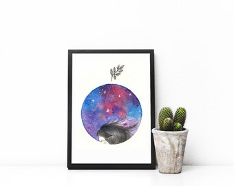 Everything is connected. Art print