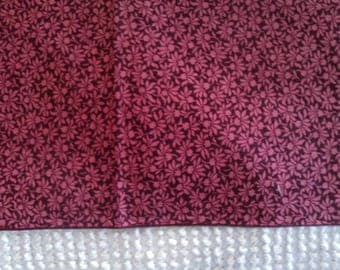 Cotton Quilt Fabric  Rose Floral on Cranberry