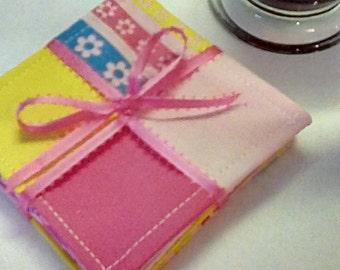 Mug Rug SET of 6, Easter, Fabric Coasters, Handmade, Hostess Gift, FREE Shipping in US