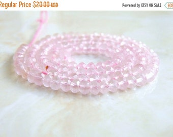 Love You 51% off Sale Rose Quartz Gemstone Rondelle Pink Faceted 4mm Full Strand 110 beads