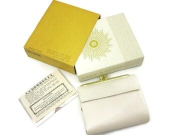 Ladies Leather Wallet - Cream, Lady Buxton French Purse, Original Box