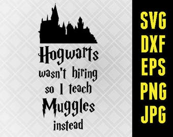 Harry Potter SVG Iron On Decal Cutting File / Clipart in Svg, Eps, Dxf, Png, Jpeg Cricut Silhouette Universal Studios Hogwarts Teacher