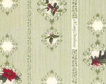 Italy Authentic Florentine Paper Tassotti Merry Christmas Paper with Delicate Green Detail  IP T554