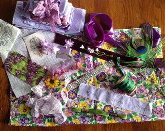 VINTAGE COLLECTION - Purple & Lavender  Collage - Vignette - Vintage Trims and more