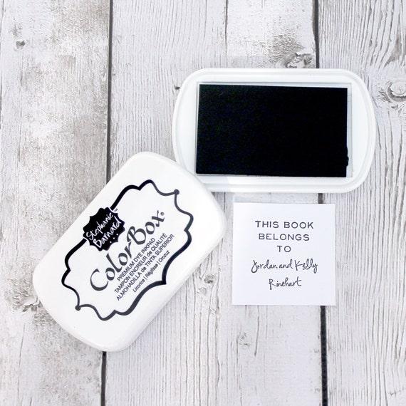 Ink Pad - BLACK Color Box by Stephanie Barnard, Dye Ink Pad, Black Ink, Stamp Pad, Licorice, Crafting, Stamp Pad, Acid Free Ink