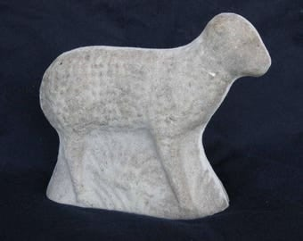 Unfinished paper mache Lg Standing Sheep