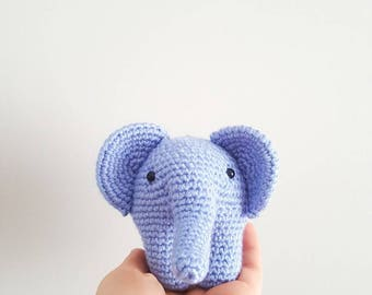 elephant plush, elephant toy, crocheted elephant, nursery, baby boy, decorative elephant, amigurumi elephant