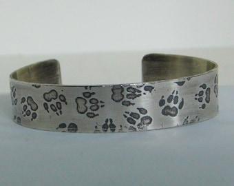 Sterling Silver Paw Cuff Bracelet